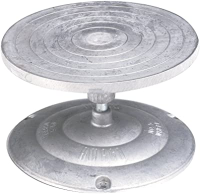 """Turntable Decorating and Sculpture Banding Wheel, 7"""", Aluminum [Amaco] detail review"""