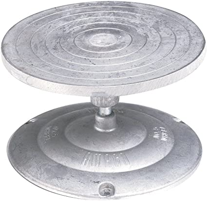 Aluminum 7 in Dia AMACO Turntable Decorating and Sculpture Banding Wheel