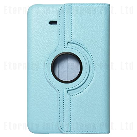 Premium Leather 360 Rotating Book Cover for Samsung Galaxy Tab 3 Neo Lite T111 (Light Blue) General Purpose Batteries & Battery Chargers at amazon