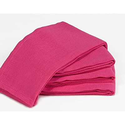"Towels by Doctor Joe Dark Pink (Fuchsia) 16"" x 25"" New Surgical Huck Towel, Pack of 12: Automotive"