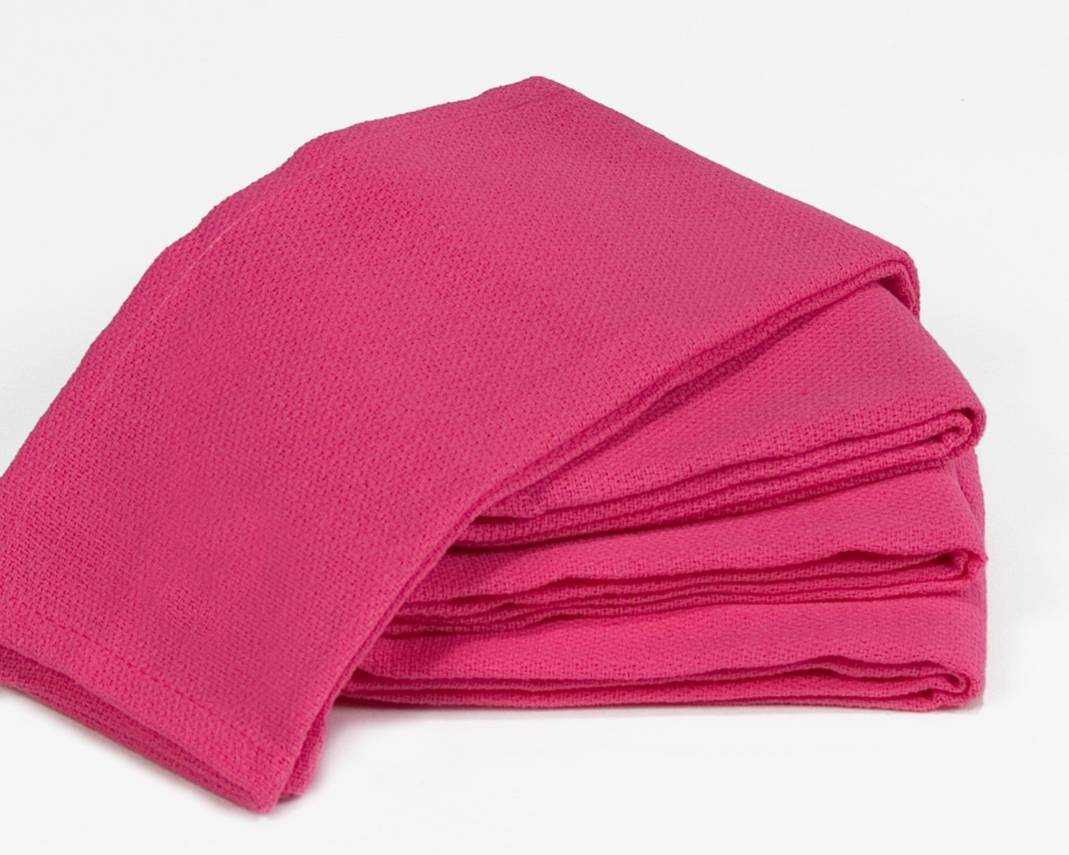 Towels by Doctor Joe Dark Pink (Fuchsia) 16'' x 25'' New Surgical Huck Towel, Pack of 12
