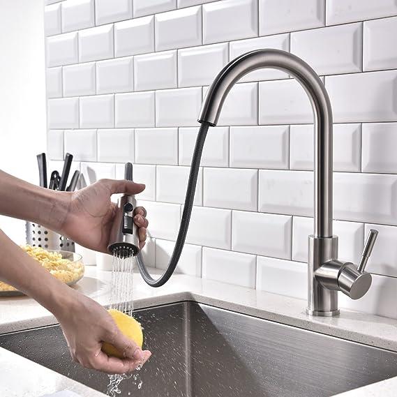 Derpras Wasserhahn Küche Mischbatterie 360° drehbar Küchenarmatur ...