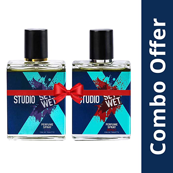 [60% off] Set Wet Studio X Edge and Impact Perfume Spray For Men, 49ml (Pack of 2)