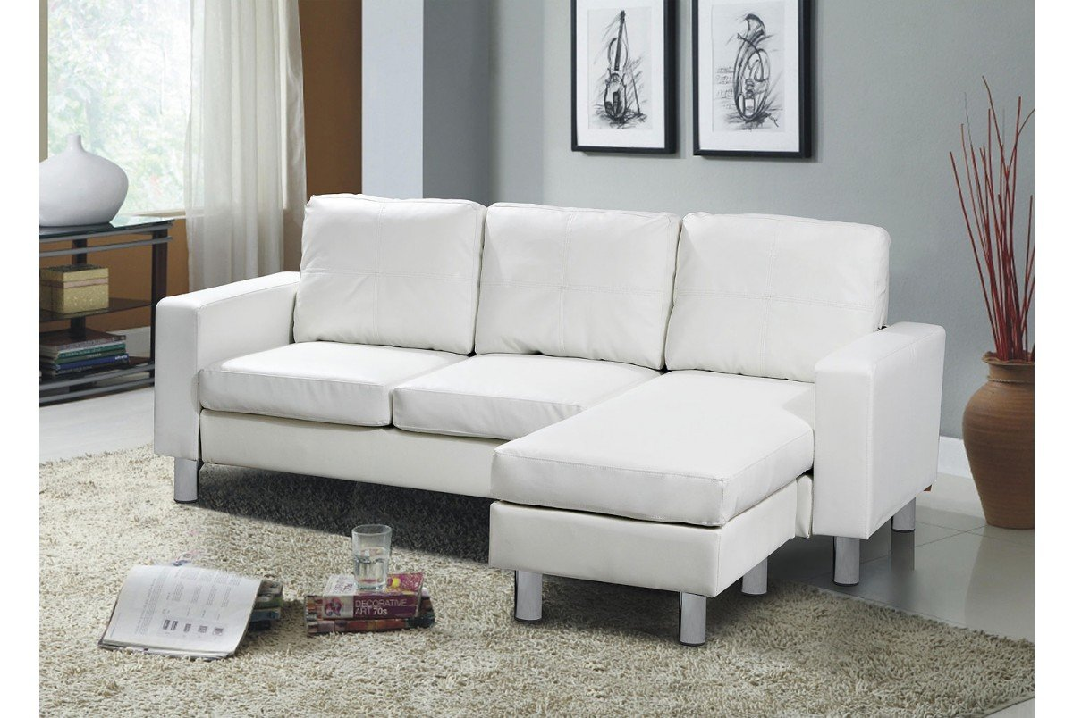 Relax L Shaped Sofa White Amazon Co Uk Kitchen Home ~ White Leather L Shaped Sofa