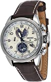 Seiko Men's Prospex World Time Solar with Brown Leather Strap and Cream Dial