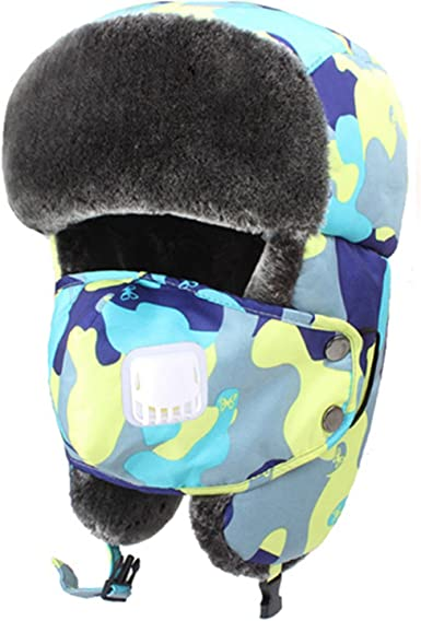 Youngate Winter Trooper Trapper Hat and Ski Windproof Warm Hats with Ear Flaps