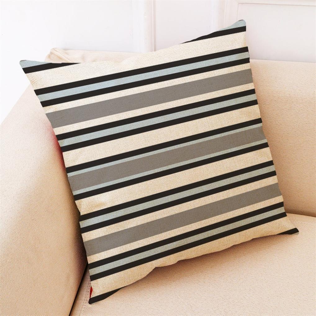 Fundas De Cojines, ❤️Xinantime Decoración del hogar Fundas de colchón Funda de almohada geométrica simple 45cm x 45cm (❤️A)