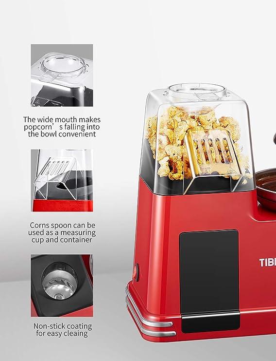 Tibek Máquina para Pop Corn, de aire caliente, Popcorn, máquinas ...