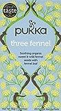 Pukka Three Fennel, Organic Herbal Tea (4 Pack, 80 Tea bags)