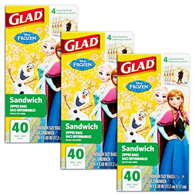 Disney Princess Lunch Bags for Kids Girls ~ 120 Ct Value Pack (Pack of 3 40-ct Sandwich Bags; Disney Princess School Supplies): Health & Personal Care