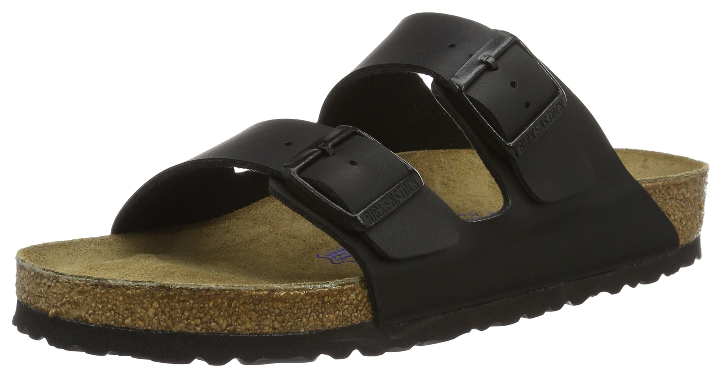 Birkenstock BIRK-51793 Arizona Sandals, Black, 38 EU Regular