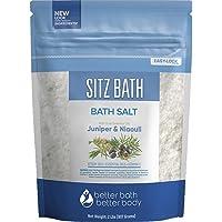 Sitz Bath Soak 32 Ounces Hemorrhoid Soak Epsom Salt with Natural Geranium, Frankincense, Lavender, Niaouli Essential Oil Plus Vitamin C in BPA Free Pouch with Press-Lock Seal