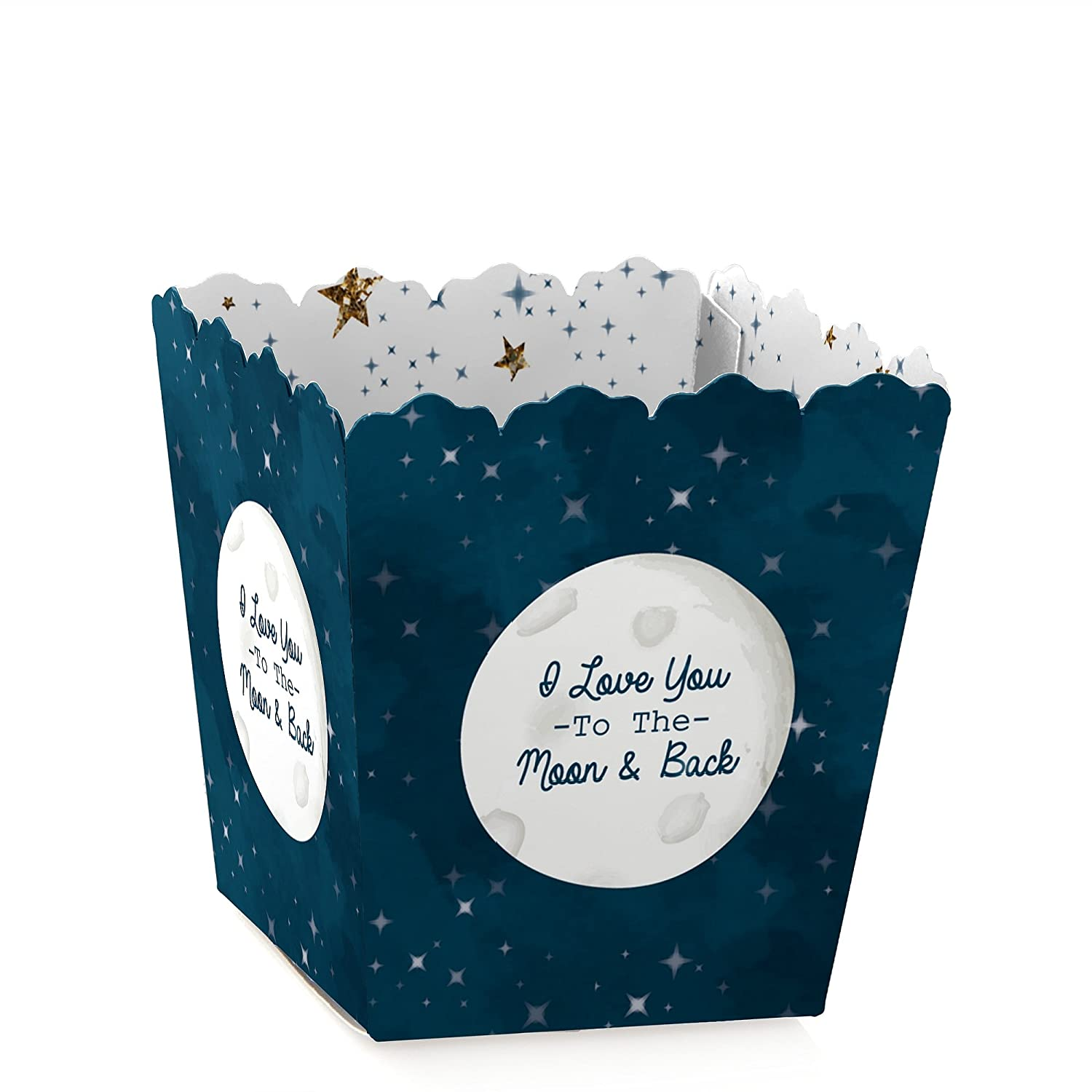 Party Mini Favor Boxes Set of 12 Twinkle Twinkle Little Star Baby Shower or Birthday Party Treat Candy Boxes
