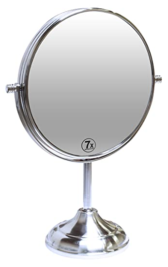 vanity mirror. Decobros 8 inch LARGE Tabletop Two sided Swivel Vanity Mirror with 7x  Magnification Amazon com