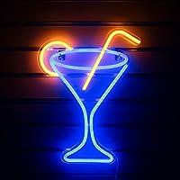 Cocktail Glas Neon Tekenen Led Neon Sign Light Grote Nachtlampje voor Kamer Decor Licht Bar Pub Beach Shop Game Office…