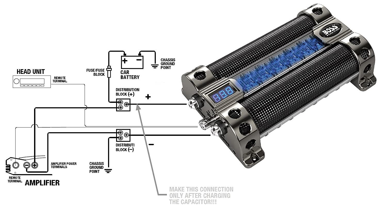 BOSS Audio CAP8 8 Farad Capacitor