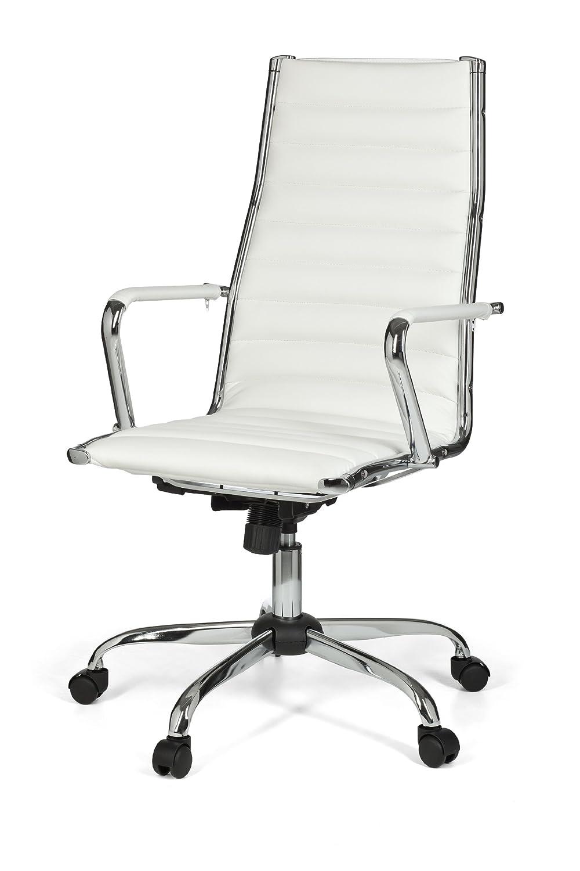 Bürostuhl weiß leder  AMSTYLE, Bürostuhl, SPM1.114, GENF 1 Bezug Kunstleder Weiß Design ...