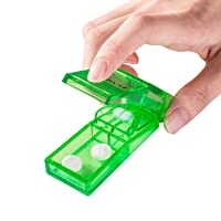 Ultrassist Pill Splitter, Accurate Pill Cutter for Cutting Small Pills or Large Pills in Half, High Transparent Green Color Pill Breaker