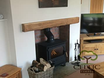 Celtic Timber - Solid French Oak Beam Floating Shelf Mantle Piece ...