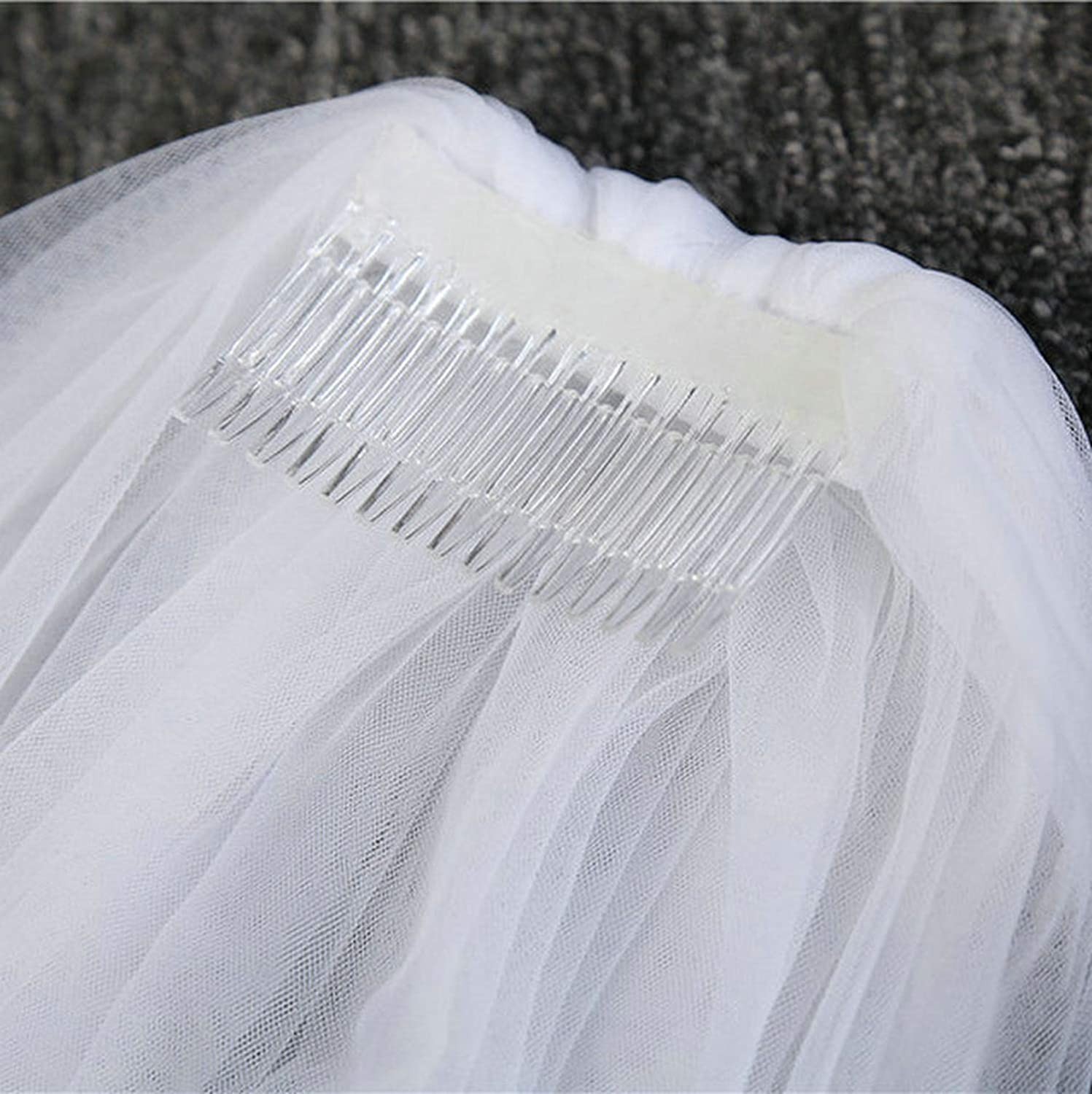 Wedding Accessories Ivory 3 Meters purdah One Layer Tulle Soft Bridal Veil White Cute Simple Bride Veils With Comb