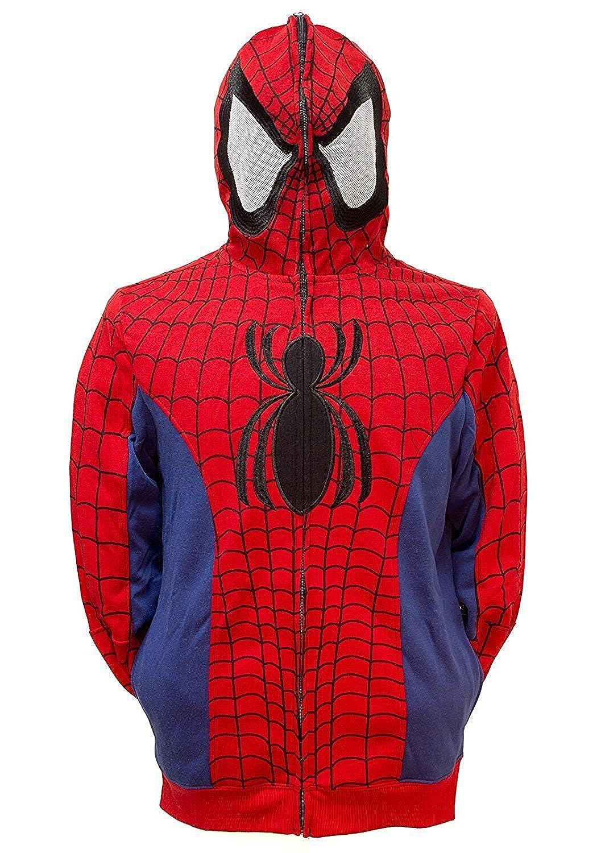 Marvel Spider-Man Men's Cosplay Full Zip Hoodie Mad Engine