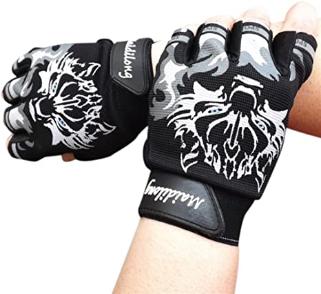Wolf Cycling Bike Skidproof  Motorbike Sports Half Finger Riding Cym Gloves