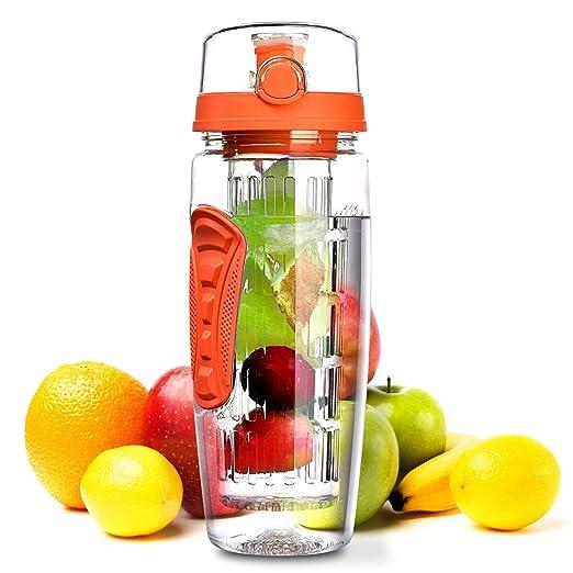 79 opinioni per OMorc Bottiglia Infusore Frutta 1 Litro, Borraccia Tritan Resistente senza BPA,