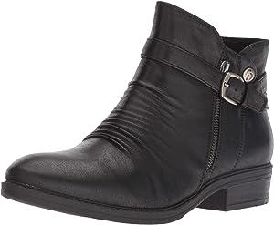 BareTraps Womens Yasmyn Faux Leather Ankle Booties