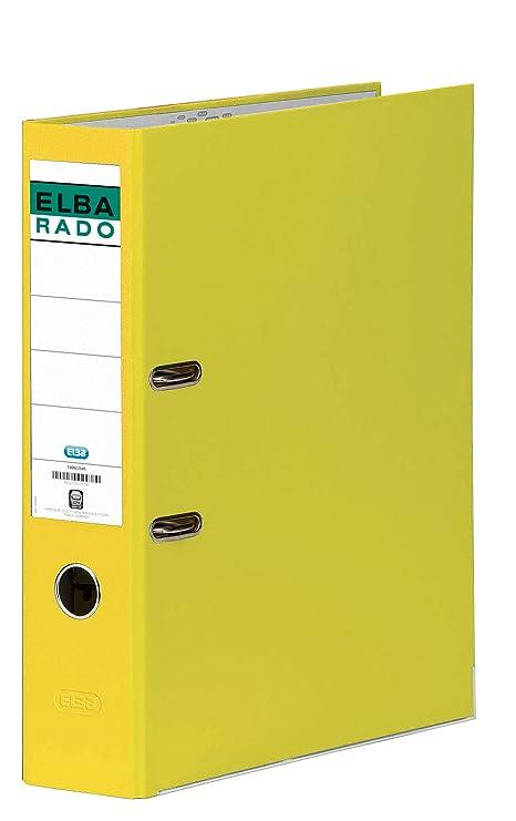 Elba Rado Chic - Archivador palanca en PVC, Fº, color amarillo