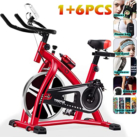 YYBF Bicicleta Estática De Spinning Profesional, Bicicleta ...