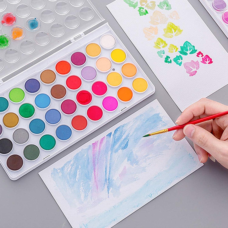 Kinder professionelle K/ünstler f/ür Anf/änger Hobby-Studenten erstklassige Kunstpigment-Farbpaletten Festes Aquarell-Farbset kr/äftige Farben Erwachsene