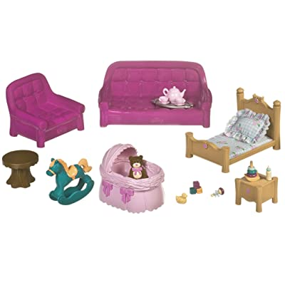 Lil Woodzeez Living Room & Nursery Set - Can Be Used with All Families & Environments - Ages 3+: Toys & Games