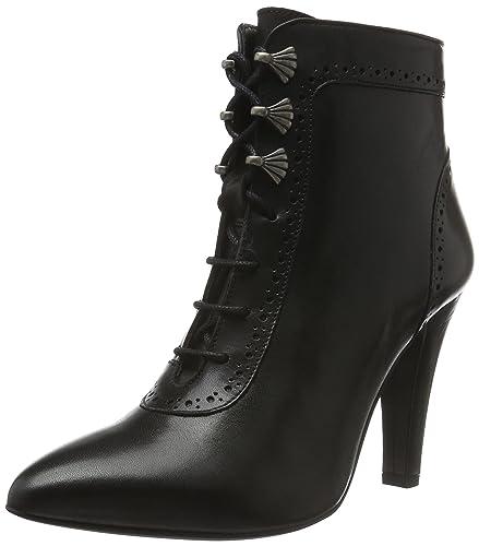 Stockerpoint Damen Schuh 7017 Kurzschaft Stiefel, Schwarz (Schwarz Nappa), 41 EU