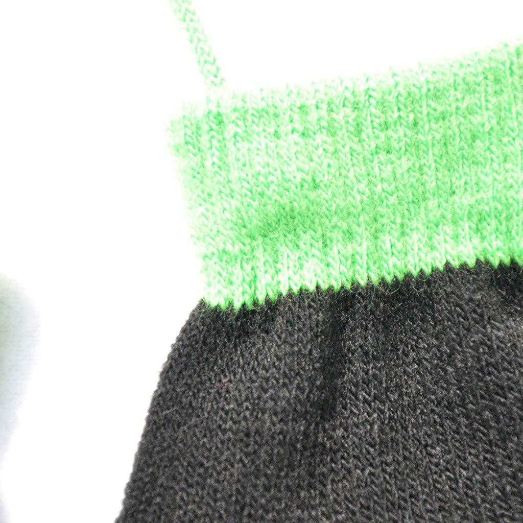 SoundJA Winter Warm Patchwork Handschuhe f/ür 1-4 Jahre Alt Kinder Kindergarten Kinder Strickhandschuhe mit Seil Patchwork Gestrickt Handschuhe mit String