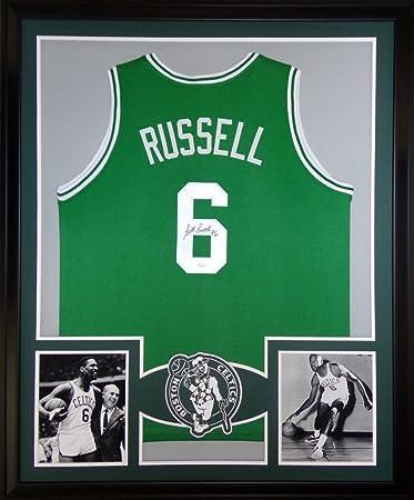 Bill Russell Boston Celtics Autographed Signed Custom Framed Jersey JSA  Witnessed Certified 8d237fc37