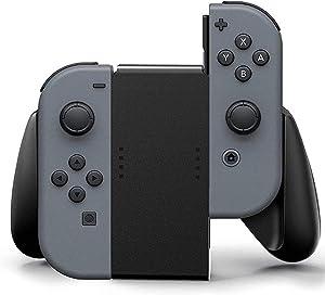 Nintendo Grip Handle Bracket Support Holder, Joycon Comfort Grip for Nintendo Switch (Black)