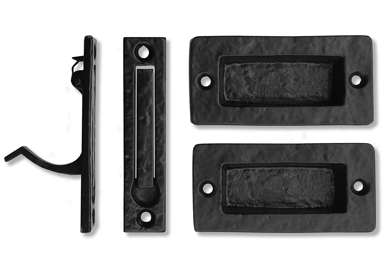"Iron Valley - 4"" Square Pocket Pull / Edge Pull Kit - Solid Cast Iron"