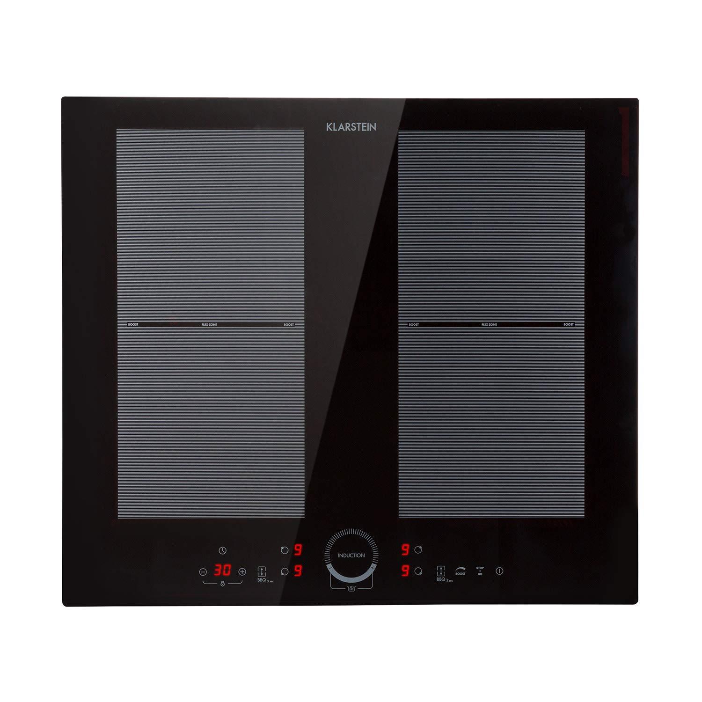 Klarstein Delicatessa Slim Black Edition - Placa vitrocerámica de inducción, 1800 y 2800 W, Temporizador de apagado, Control ecotérmico, Función para ...