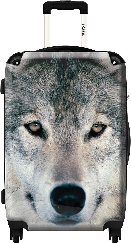 Ikase Hardside Spinner Luggage Grey Wolf