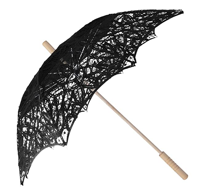Vintage Style Parasols and Umbrellas Lace Umbrella Wedding Parasol Embroidery Victorian Costume Accessory $19.89 AT vintagedancer.com