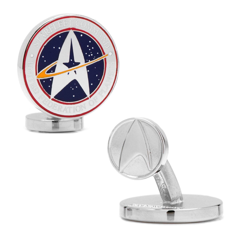Star Trek Star Trek Starfleet Command Cufflinks, Officially Licensed