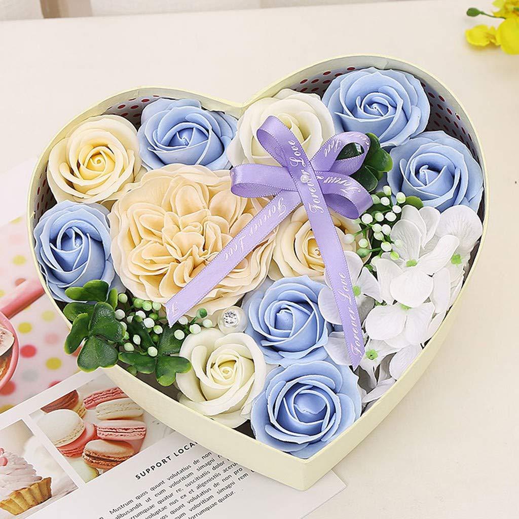 Saint Valentin Zariavo Savon Rose Fleur Coffret Cadeau Savon