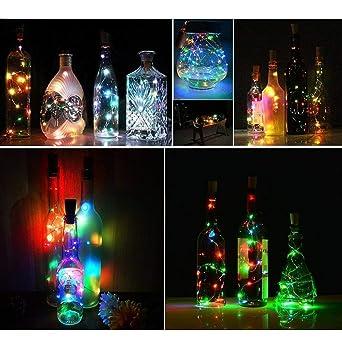 Lumineuses Liège Lot Led Diy Guirlandes 3 Guirlande 100cm La Eclairage Décorer Bouteille Noël Fête Lampes Bouchon De PkZuiX