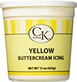 CK Products 77-66051 Buttercream Icing Cake Topper, 15 oz, Yellow