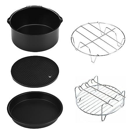 Elegante y fácil de Limpiar Kits de Accesorios de la freidora de Aire (Juego de