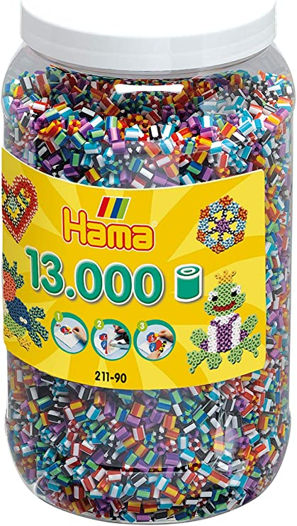 Hama Striped Mixed Beads in a Bag