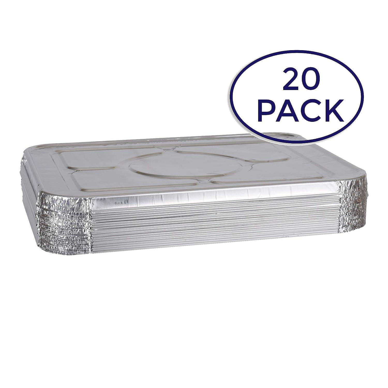 Aluminum Foil Lids for Aluminum Steam Table Pans, Fits Half-Size Pans (1 Bags of 20) A World Of Deals