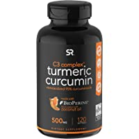 Sports Research, C3 Complex,turmeric Curcumin, 500 Mg, 120 Softgels