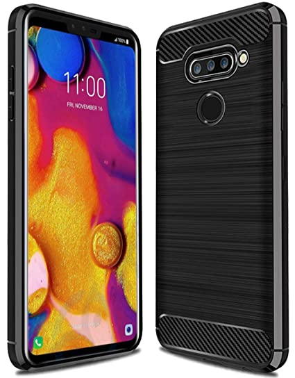 new style 73d70 ebcaa LG V40 ThinQ Case, LG V40 Case, Sucnakp TPU Shock Absorption Technology  Raised Bezels Protective Case Cover for LG V40 ThinQ (Black)
