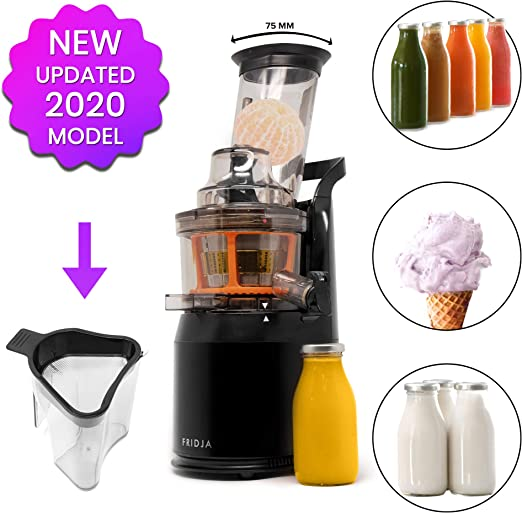 Fruta y Vegetal Cold Press Extractor de Jugo Slow Juicer, Sorbete ...
